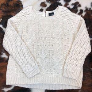 Cynthia Rowley Chunky Knit Wool Blend Sweater